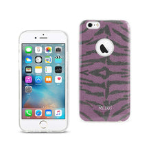 Load image into Gallery viewer, Reiko Iphone 6- 6s Shine Glitter Shimmer Tiger Stripe Hybrid Case In Purple
