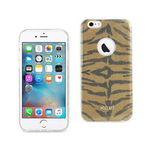 Load image into Gallery viewer, Reiko Iphone 6- 6s Shine Glitter Shimmer Tiger Stripe Hybrid Case In Yellow