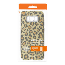 Load image into Gallery viewer, Reiko Samsung Galaxy S8 Edge- S8 Plus Shine Glitter Shimmer Hybrid Case In Leopard Gold