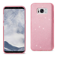 Load image into Gallery viewer, Reiko Samsung Galaxy S8 Edge- S8 Plus Shine Glitter Shimmer Leopard Hybrid Case In Pink
