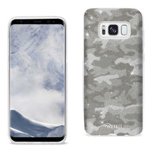 Load image into Gallery viewer, Reiko Samsung Galaxy S8- Sm Shine Glitter Shimmer Camouflage Hybrid Case In Brown