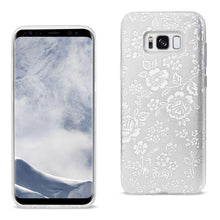 Load image into Gallery viewer, Reiko Samsung Galaxy S8- Sm Shine Glitter Shimmer Plum Blossom Hybrid Case In Silver
