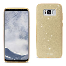Load image into Gallery viewer, Reiko Samsung Galaxy S8- Sm Shine Glitter Shimmer Leopard Hybrid Case In Gold