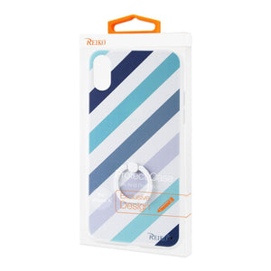 Reiko Iphone X Stripe Pattern Tpu Case With Rotating Ring Stand Holder