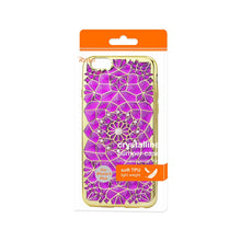 Load image into Gallery viewer, Reiko Iphone 6 Plus- 6s Plus Soft Tpu Case With Sparkling Diamond Sunflower Design In Purple