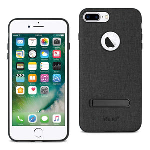 Reiko Iphone 8 Plus- 7 Plus Rugged Texture Tpu Protective Cover In Black