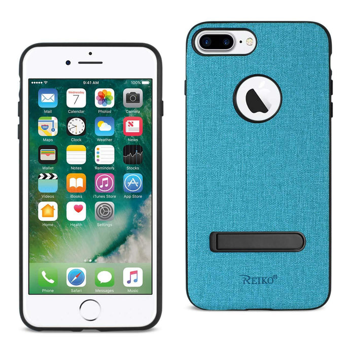 Reiko Iphone 8 Plus- 7 Plus Rugged Texture Tpu Protective Cover In Blue
