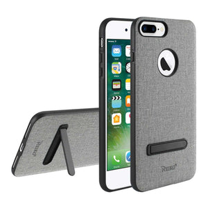 Reiko Iphone 8 Plus- 7 Plus Rugged Texture Tpu Protective Cover In Gray