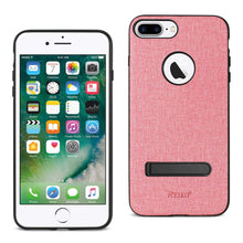 Load image into Gallery viewer, Reiko Iphone 7 Plus- 8 Plus  Rugged Texture Tpu Protective Cover In Pink