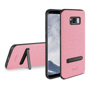 Reiko Samsung Galaxy S8 Edge- S8 Plus Denim Texture Tpu Protector Cover In Pink