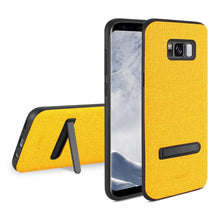 Load image into Gallery viewer, Reiko Samsung Galaxy S8 Edge- S8 Plus Denim Texture Tpu Protector Cover In Yellow