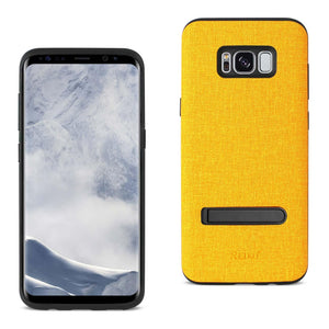 Reiko Samsung Galaxy S8 Edge- S8 Plus Denim Texture Tpu Protector Cover In Yellow