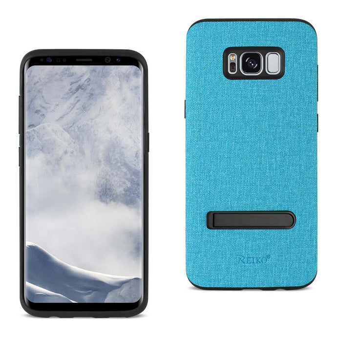 Reiko Samsung Galaxy S8- Sm Denim Texture Tpu Protector Cover In Blue