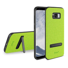 Load image into Gallery viewer, Reiko Samsung Galaxy S8- Sm Denim Texture Tpu Protector Cover In Green