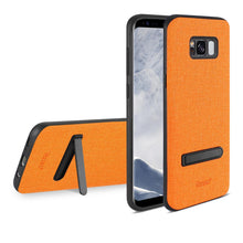 Load image into Gallery viewer, Reiko Samsung Galaxy S8- Sm Denim Texture Tpu Protector Cover In Orange