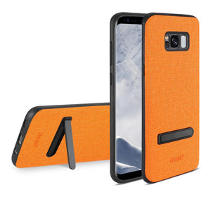 Reiko Samsung Galaxy S8- Sm Denim Texture Tpu Protector Cover In Orange