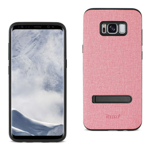 Reiko Samsung Galaxy S8- Sm Denim Texture Tpu Protector Cover In Pink