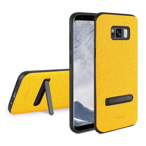 Reiko Samsung Galaxy S8- Sm Denim Texture Tpu Protector Cover In Yellow