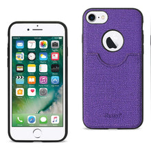 Load image into Gallery viewer, Reiko Iphone 7 Anti-slip Texture Protector Cover With Card Slot In Purple