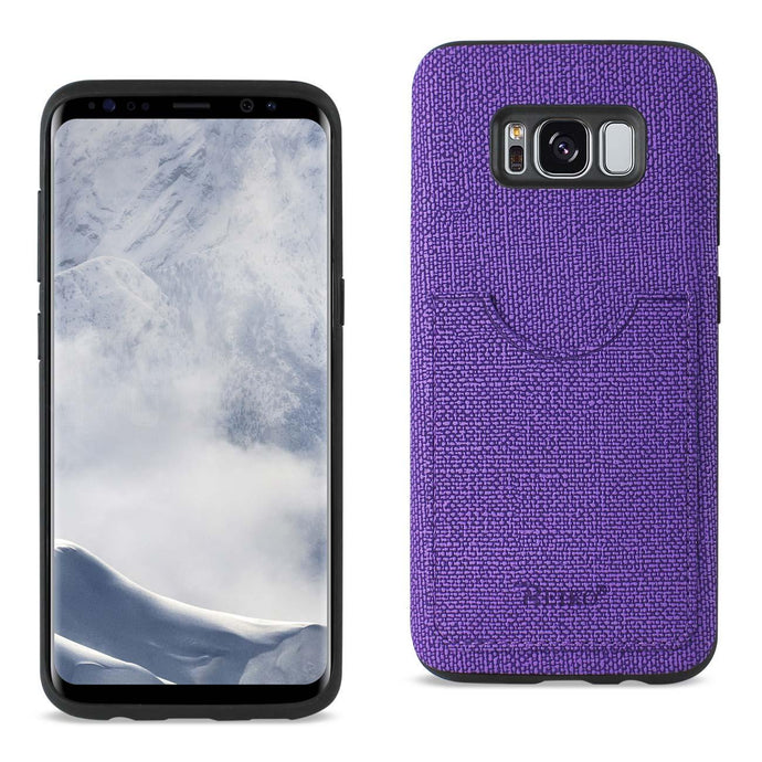 Reiko Samsung Galaxy S8 Edge- S8 Plus Anti-slip Texture Protector Cover With Card Slot In Purple