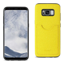 Load image into Gallery viewer, Reiko Samsung Galaxy S8 Edge- S8 Plus Anti-slip Texture Protector Cover With Card Slot In Yellow