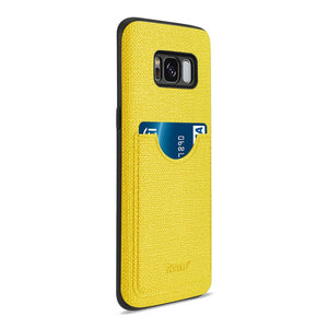 Reiko Samsung Galaxy S8 Edge- S8 Plus Anti-slip Texture Protector Cover With Card Slot In Yellow