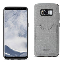 Load image into Gallery viewer, Reiko Samsung Galaxy S8- Sm Anti-slip Texture Protective Cover With Card Slot In Gray