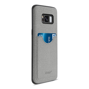 Reiko Samsung Galaxy S8- Sm Anti-slip Texture Protective Cover With Card Slot In Gray