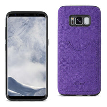 Load image into Gallery viewer, Reiko Samsung Galaxy S8- Sm Anti-slip Texture Protector Cover With Card Slot In Purple