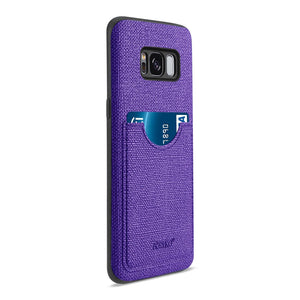 Reiko Samsung Galaxy S8- Sm Anti-slip Texture Protector Cover With Card Slot In Purple