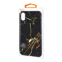 Load image into Gallery viewer, Reiko Iphone X Streak Marble Iphone Cover In Black