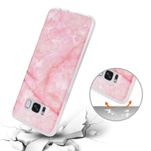 Load image into Gallery viewer, Reiko Samsung Galaxy S8- Sm Streak Marble Cover In Pink