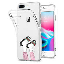 Load image into Gallery viewer, Reiko Apple Iphone 8 Plus Design Air Cushion Case With Feet In White