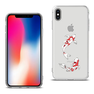Reiko Apple Iphone X Design Air Cushion Case With Fish In Blue