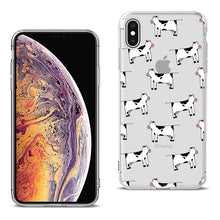 Load image into Gallery viewer, Reiko Apple Iphone Xs Max Design Air Cushion Case With Cow In Blue