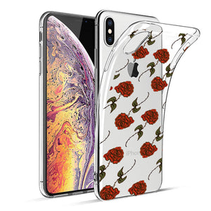 Reiko Apple Iphone Xs Max Design Air Cushion Case With Rose In Black