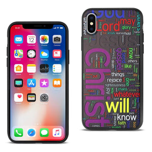 Reiko Iphone X Design Tpu Case With Vibrant Word Cloud Jesus Letters