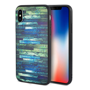 Reiko Iphone X Embossed Wood Pattern Design Tpu Case With Multi-letter