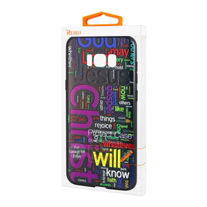 Reiko Samsung Galaxy S8 Edge Design Tpu Case With Vibrant Word Cloud Jesus Letters
