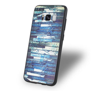 Reiko Samsung Galaxy S8 Embossed Wood Pattern Design Tpu Case With Multi-letter