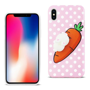 Reiko Iphone X Tpu Design Case With  3d Soft Silicone Poke Squishy Rabbit