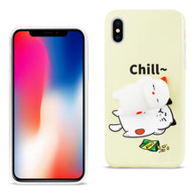 Load image into Gallery viewer, Reiko Iphone X Tpu Design Case With  3d Soft Silicone Poke Squishy Sleeping Cat
