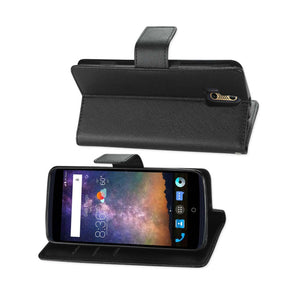 Reiko Zte Axon Pro 3-in-1 Wallet Case In Black