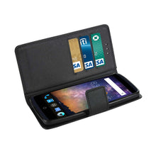 Load image into Gallery viewer, Reiko Zte Axon Pro 3-in-1 Wallet Case In Black
