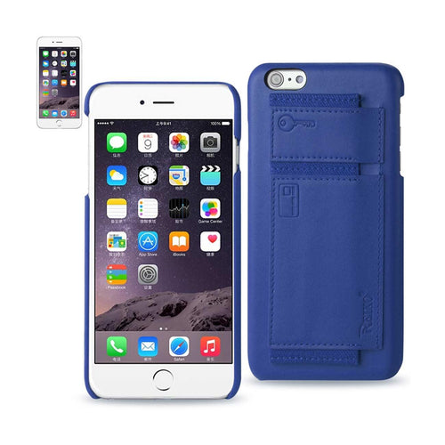 Reiko Iphone 6 Plus Rfid Genuine Leather Case Protection And Key Holder In Ultramarine