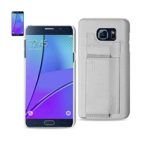 Reiko Samsung Galaxy Note 5 Rfid Genuine Leather Case Protection And Key Holder In Ivory