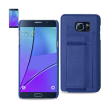Load image into Gallery viewer, Reiko Samsung Galaxy Note 5 Rfid Genuine Leather Case Protection And Key Holder In Ultramarine