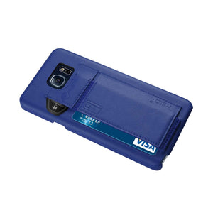 Reiko Samsung Galaxy Note 5 Rfid Genuine Leather Case Protection And Key Holder In Ultramarine