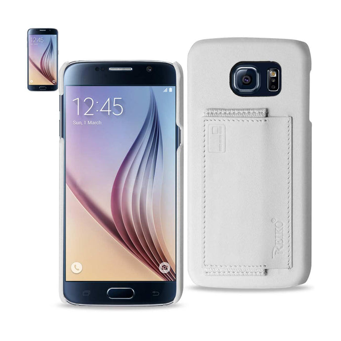 Reiko Samsung Galaxy S6 Rfid Genuine Leather Case Protection And Key Holder In Ivory