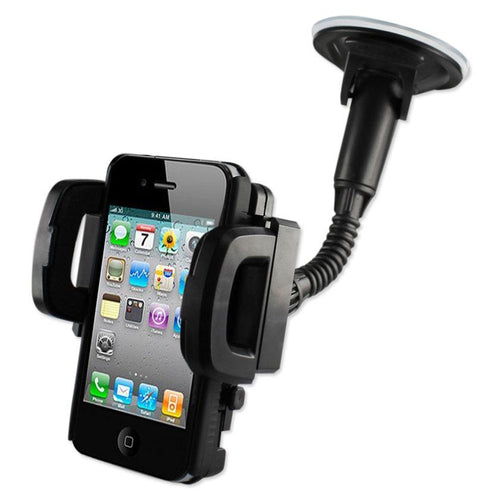 Reiko Universal Suction Glass Window Phone Holder In Black
